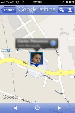 Hitta barnen med Google latitude